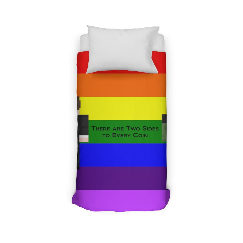 Two Coin Sides Line Home Duvet by Lockyz Group