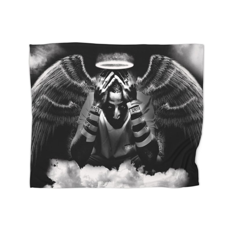"Loc Saint ""Original Angel"" Home Fleece Blanket Blanket by Official Loc Saint Music Merch"