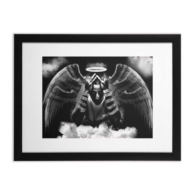 "Loc Saint ""Original Angel"" Home Framed Fine Art Print by Official Loc Saint Music Merch"
