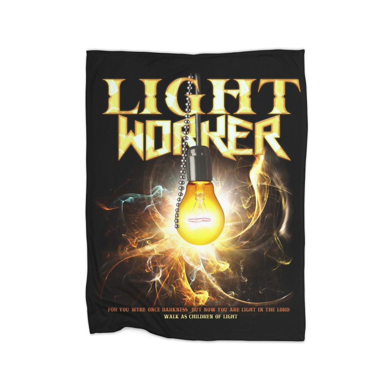 "Light Worker ""Activated"" Home Fleece Blanket Blanket by Official Loc Saint Music Merch"