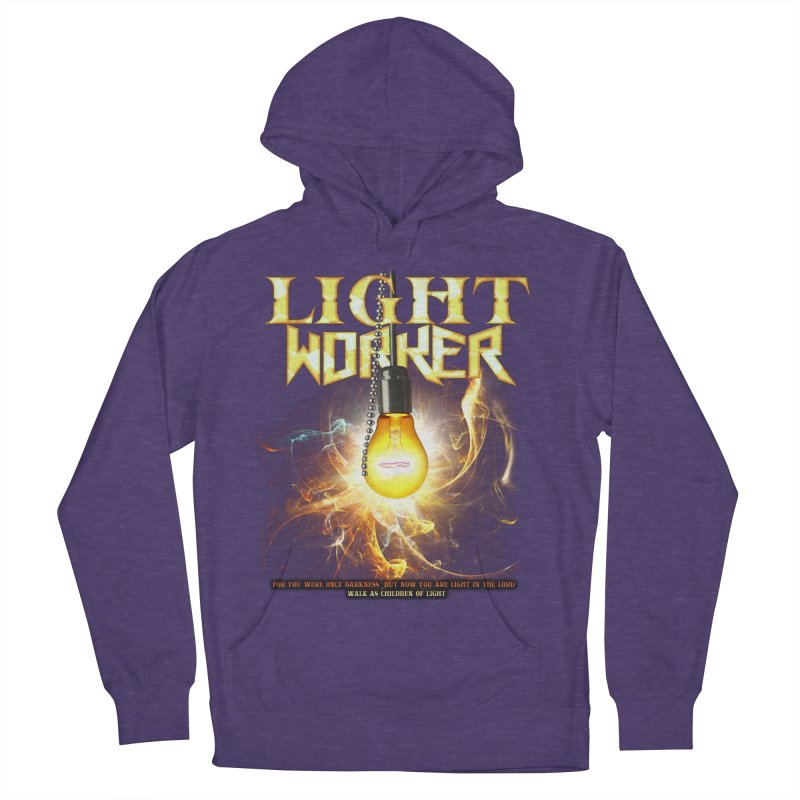 """Light Worker """"Activated"""" Men's French Terry Pullover Hoody by Official Loc Saint Music Merch"""