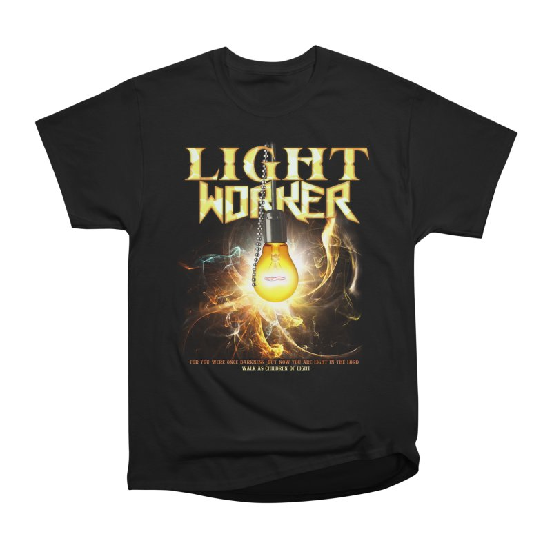 "Light Worker ""Activated"" in Men's Heavyweight T-Shirt Black by Official Loc Saint Music Merch"