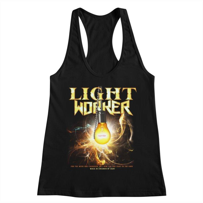 "Light Worker ""Activated"" Women's Racerback Tank by Official Loc Saint Music Merch"