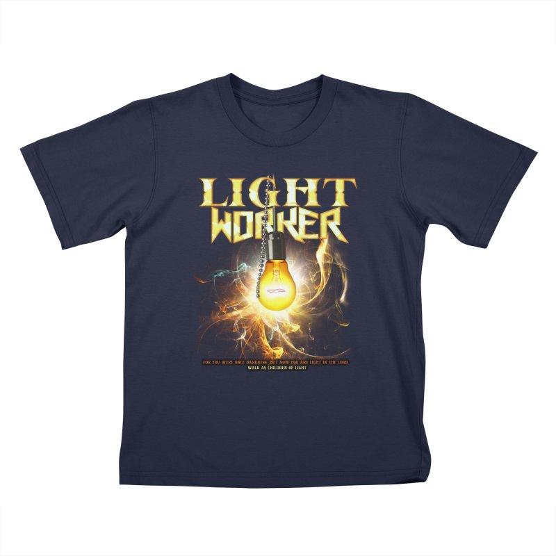 "Light Worker ""Activated"" Kids T-Shirt by Official Loc Saint Music Merch"