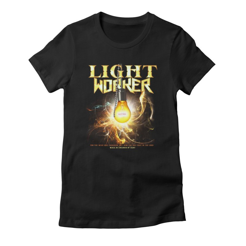 "Light Worker ""Activated"" Women's Fitted T-Shirt by Official Loc Saint Music Merch"