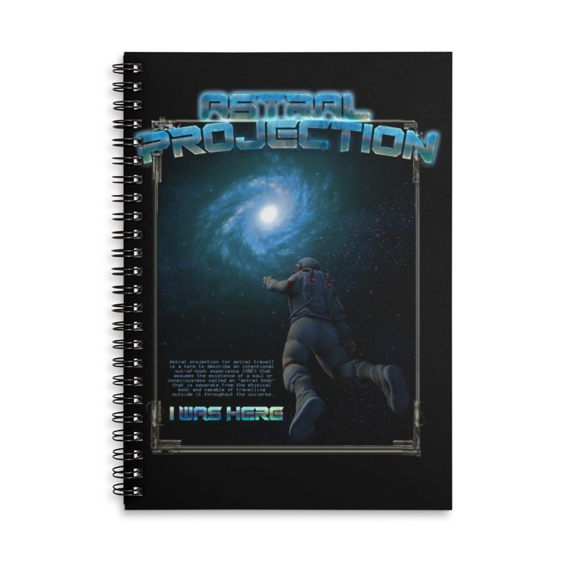 "The Spirit Armory ""Astral Projection"" Accessories Lined Spiral Notebook by Official Loc Saint Music Merch"