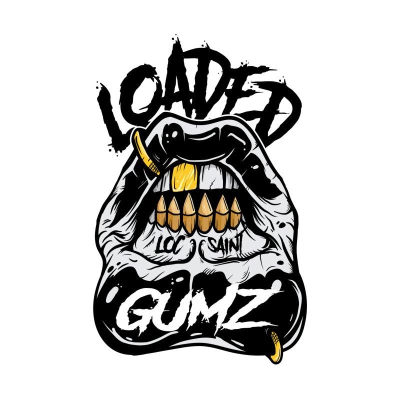 Loaded Gumz Black & White Men's T-Shirt by Official Loc Saint Music Merch
