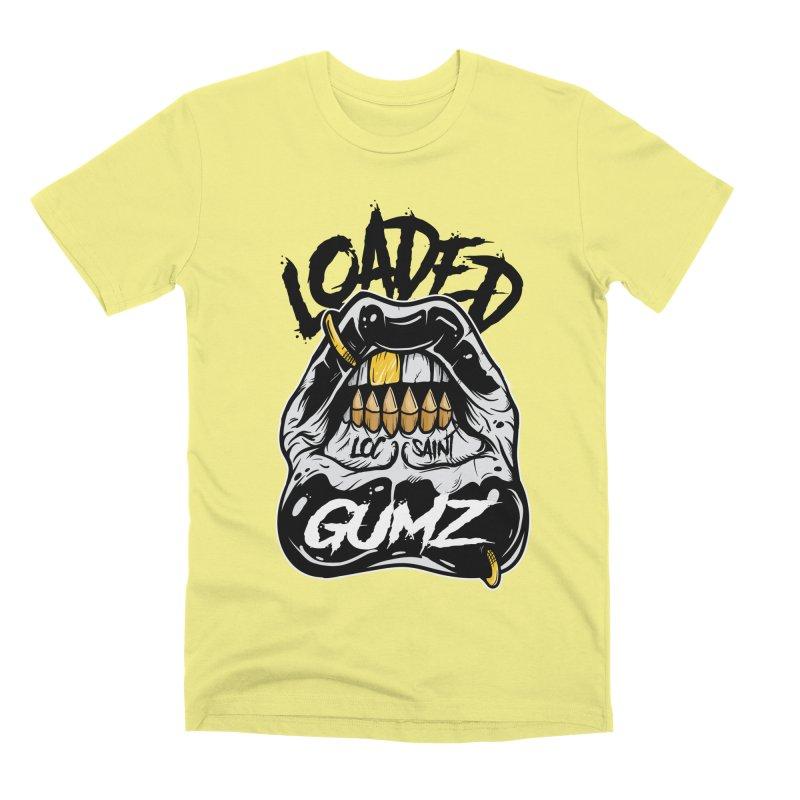 Loaded Gumz Black & White Men's Premium T-Shirt by Official Loc Saint Music Merch