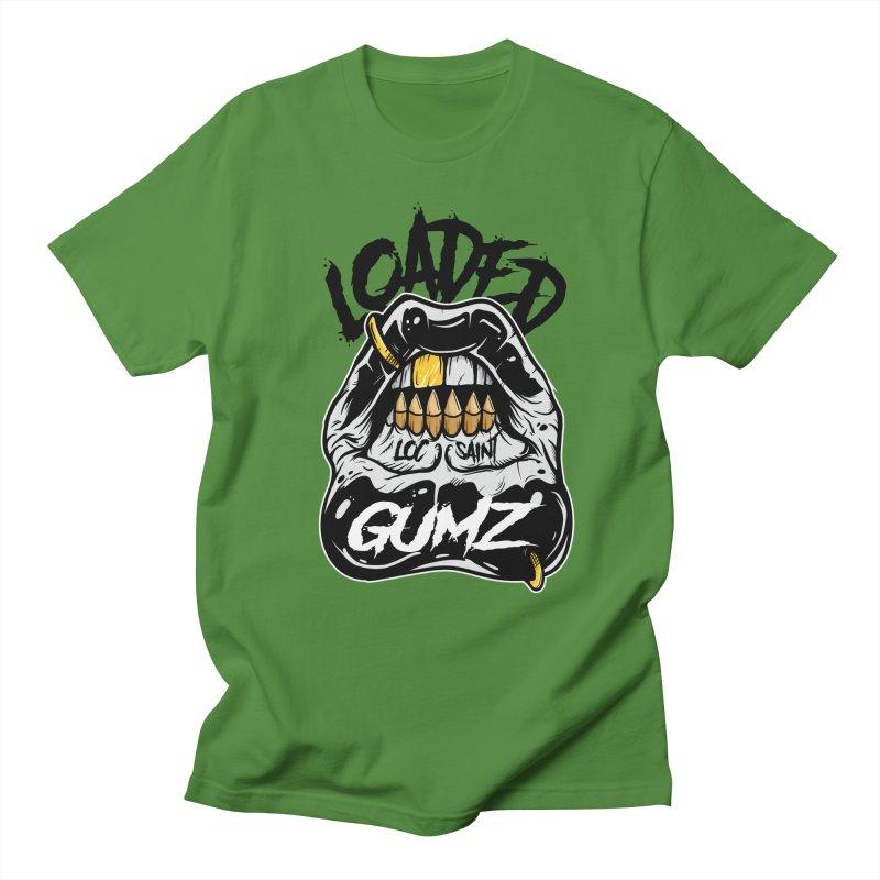 Loaded Gumz Black & White Men's Regular T-Shirt by Official Loc Saint Music Merch