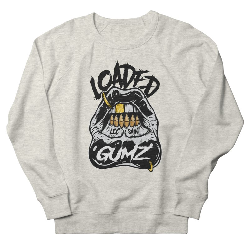 Loaded Gumz Black & White Men's French Terry Sweatshirt by Official Loc Saint Music Merch