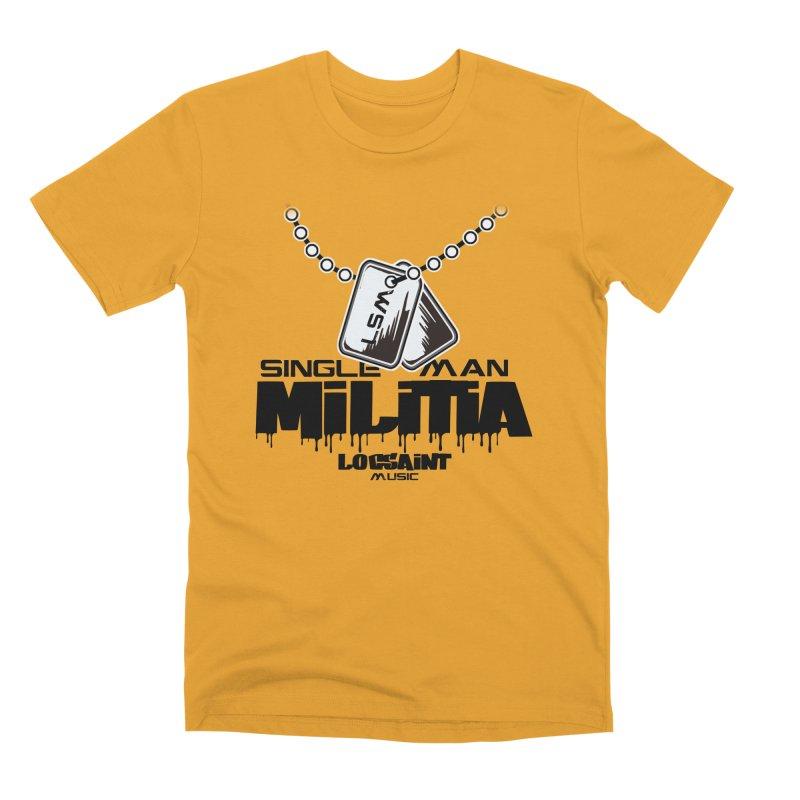 Single Man Militia Men's Premium T-Shirt by Official Loc Saint Music Merch