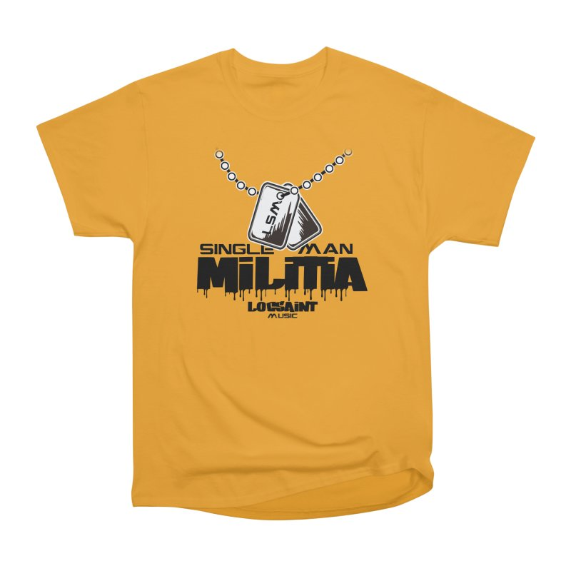 Single Man Militia Men's Heavyweight T-Shirt by Official Loc Saint Music Merch