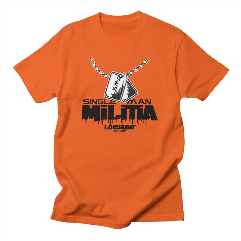 Single Man Militia Men's Regular T-Shirt by Official Loc Saint Music Merch