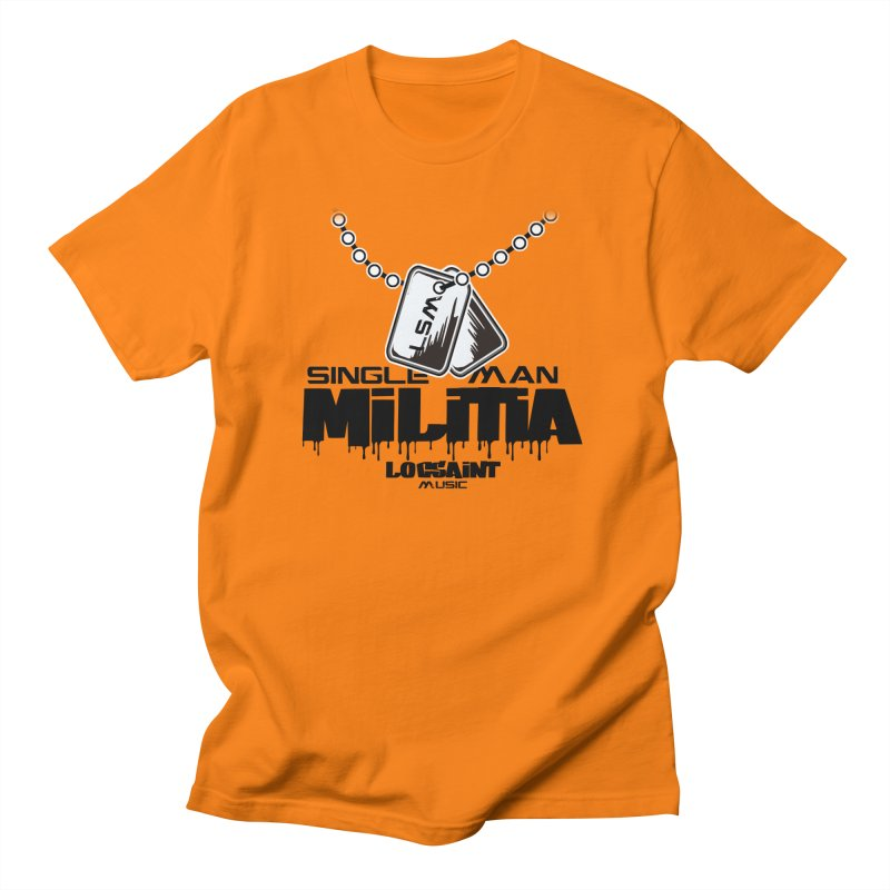 Single Man Militia Women's Regular Unisex T-Shirt by Official Loc Saint Music Merch