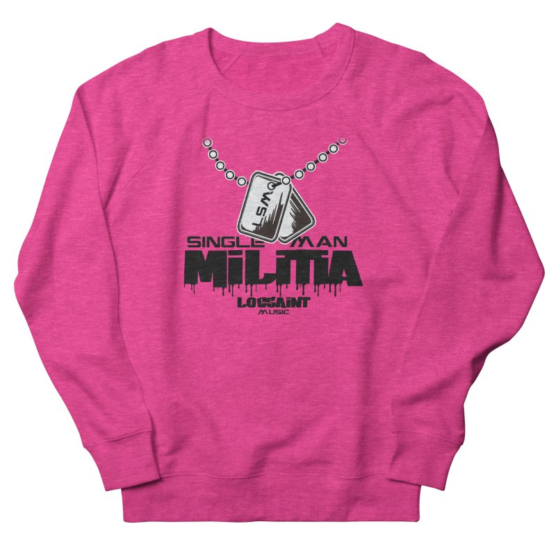 Single Man Militia Men's French Terry Sweatshirt by Official Loc Saint Music Merch