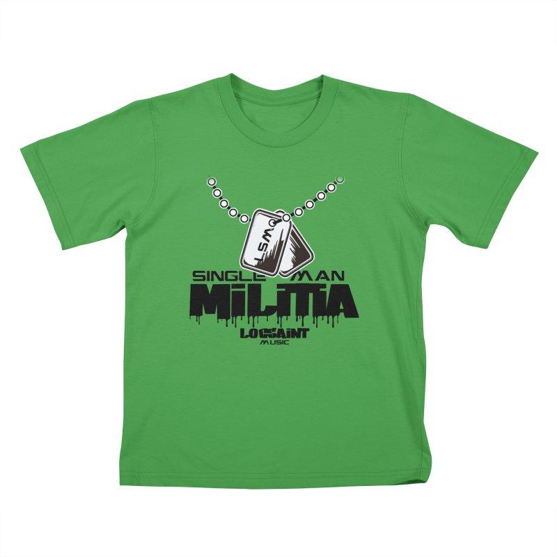 Single Man Militia Kids T-Shirt by Official Loc Saint Music Merch