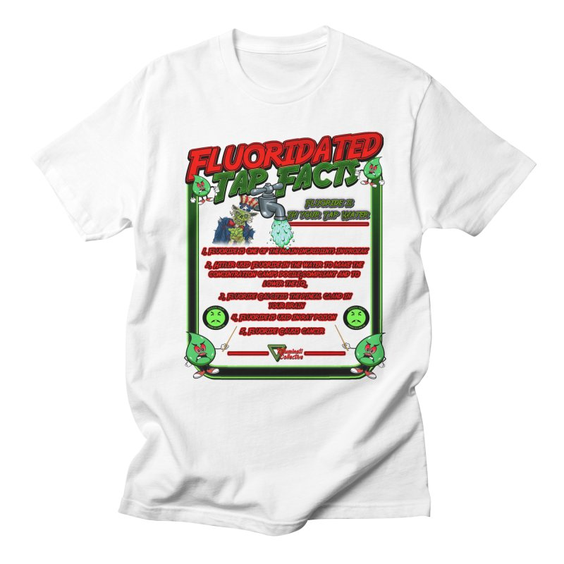 Fluoridated Tap Facts in Men's Regular T-Shirt White by Official Loc Saint Music Merch