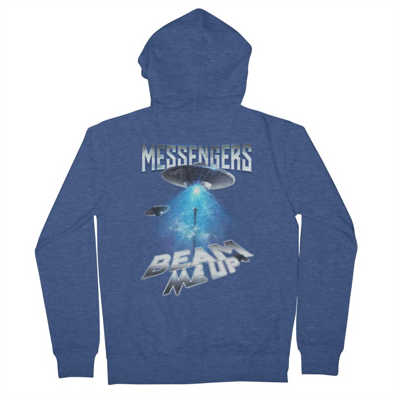 """Messengers """"Beam Me Up"""" Women's French Terry Zip-Up Hoody by Official Loc Saint Music Merch"""