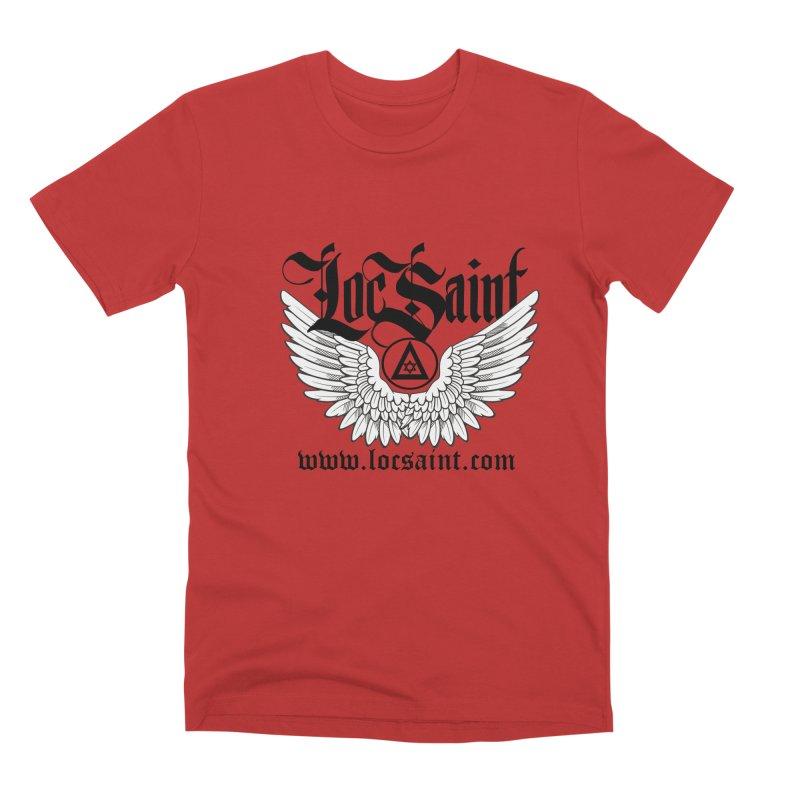 """Loc Saint """"Wings & Halo"""" (Black) Men's Premium T-Shirt by Official Loc Saint Music Merch"""