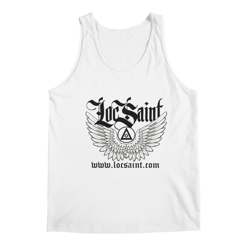 "Loc Saint ""Wings & Halo"" (Black) Men's Regular Tank by Official Loc Saint Music Merch"