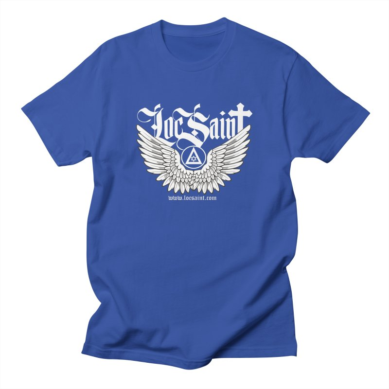 "Loc Saint ""Wings & Halo"" (White) Men's Regular T-Shirt by Official Loc Saint Music Merch"