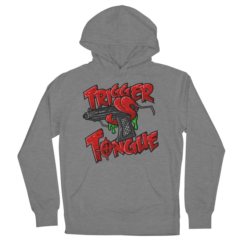 Trigger Tongue (Red) Men's French Terry Pullover Hoody by Official Loc Saint Music Merch