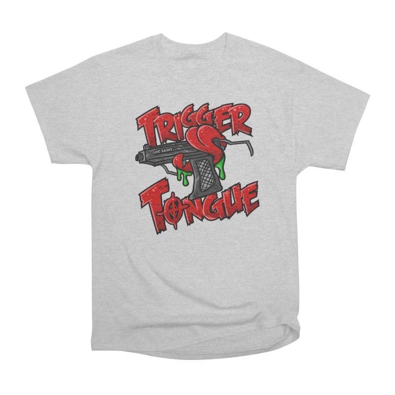 Trigger Tongue (Red) Women's Heavyweight Unisex T-Shirt by Official Loc Saint Music Merch