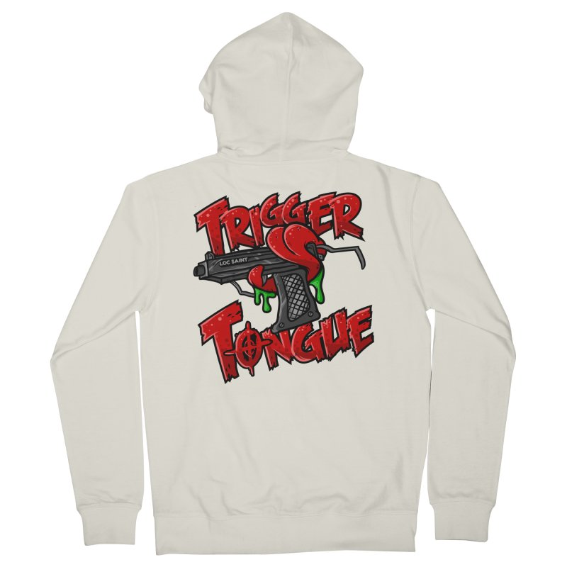 Trigger Tongue (Red) Women's French Terry Zip-Up Hoody by Official Loc Saint Music Merch