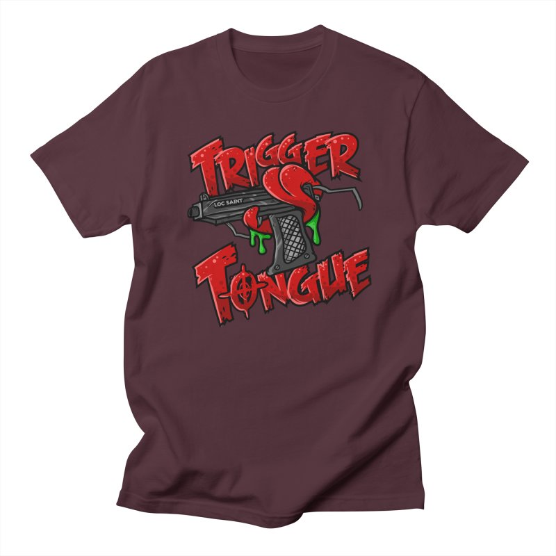 Trigger Tongue (Red) Women's Regular Unisex T-Shirt by Official Loc Saint Music Merch
