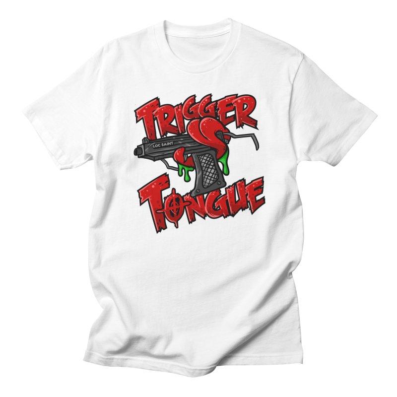 Trigger Tongue (Red) Men's Regular T-Shirt by Official Loc Saint Music Merch