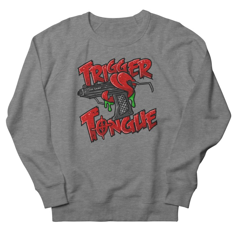 Trigger Tongue (Red) Men's French Terry Sweatshirt by Official Loc Saint Music Merch