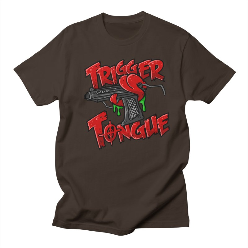 Trigger Tongue (Red) Men's Regular T-Shirt by Official Loc Saint Music Merch