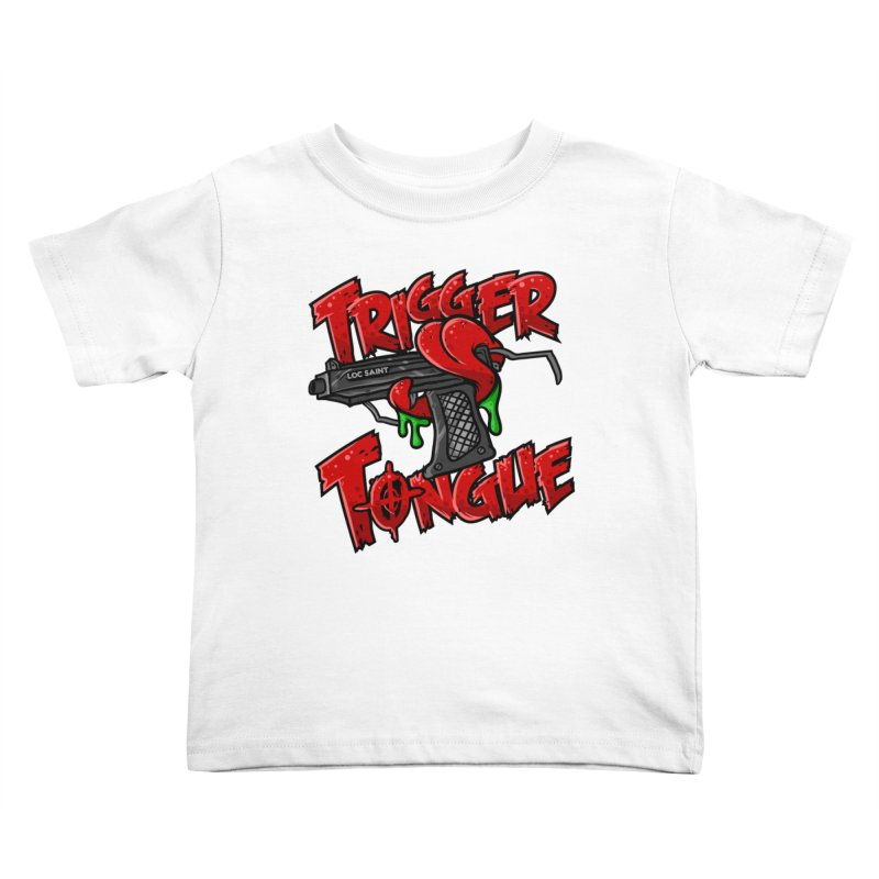 Trigger Tongue (Red) Kids Toddler T-Shirt by Official Loc Saint Music Merch