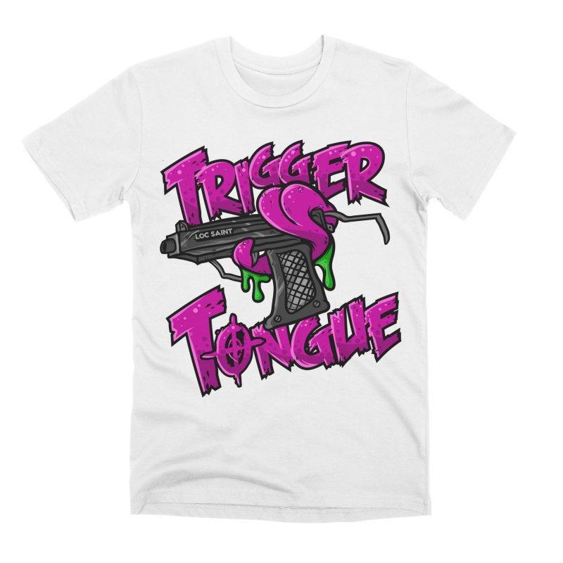 Trigger Tongue (Pink) Men's Premium T-Shirt by Official Loc Saint Music Merch