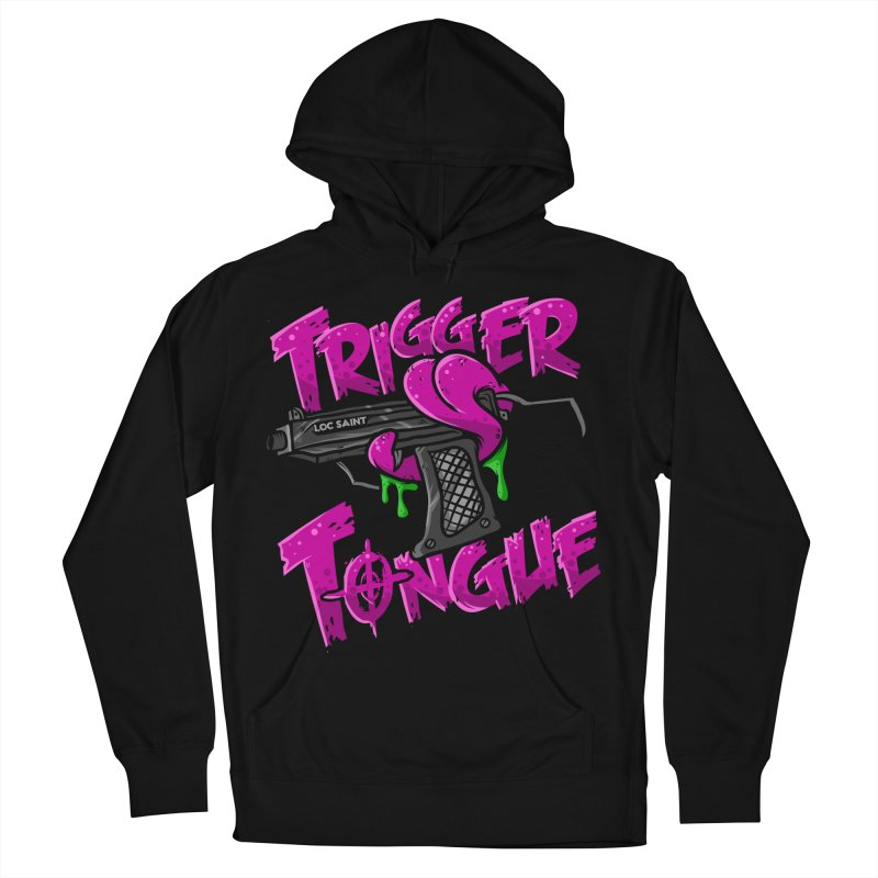 Trigger Tongue (Pink) Women's French Terry Pullover Hoody by Official Loc Saint Music Merch