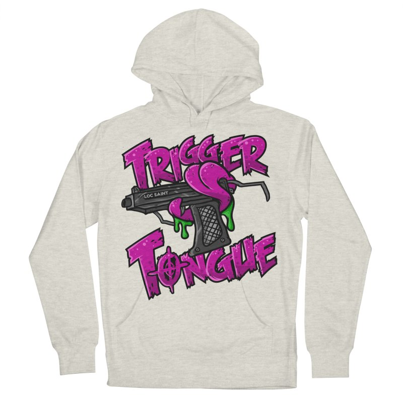 Trigger Tongue (Pink) Men's French Terry Pullover Hoody by Official Loc Saint Music Merch