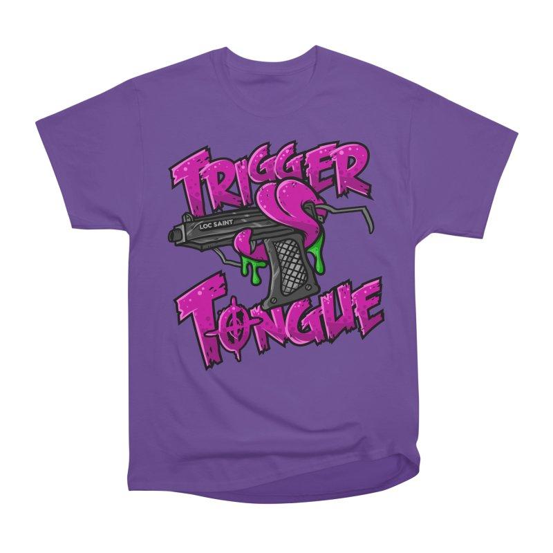 Trigger Tongue (Pink) Women's Heavyweight Unisex T-Shirt by Official Loc Saint Music Merch
