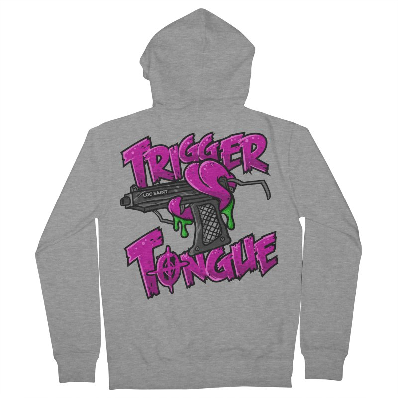 Trigger Tongue (Pink) Women's French Terry Zip-Up Hoody by Official Loc Saint Music Merch