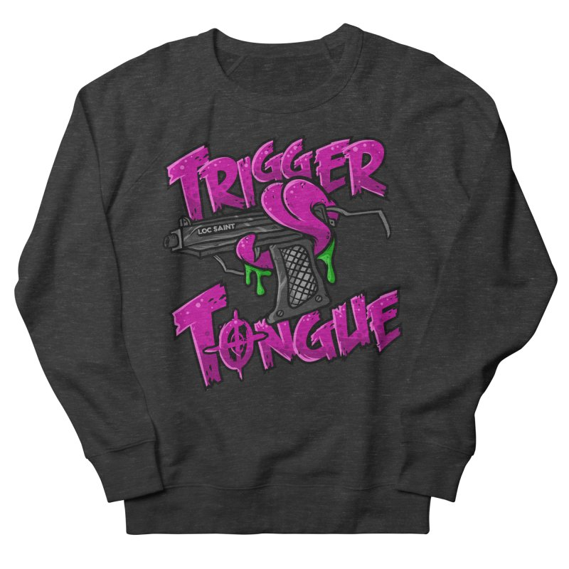 Trigger Tongue (Pink) Women's French Terry Sweatshirt by Official Loc Saint Music Merch