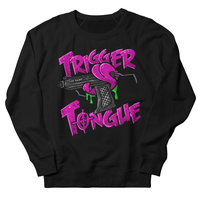 Trigger Tongue (Pink) in Women's French Terry Sweatshirt Black by Official Loc Saint Music Merch