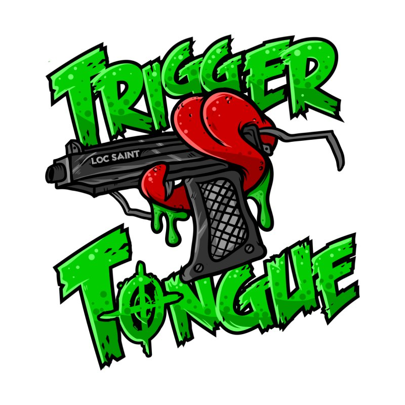 Trigger Tongue (Green) Men's T-Shirt by Official Loc Saint Music Merch
