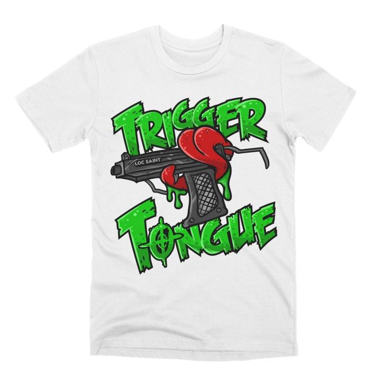 Trigger Tongue (Green) Men's Premium T-Shirt by Official Loc Saint Music Merch