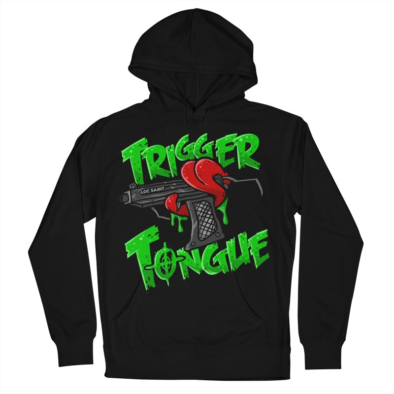 Trigger Tongue (Green) Women's French Terry Pullover Hoody by Official Loc Saint Music Merch