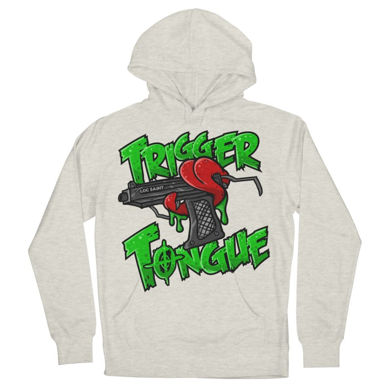 Trigger Tongue (Green) Men's French Terry Pullover Hoody by Official Loc Saint Music Merch