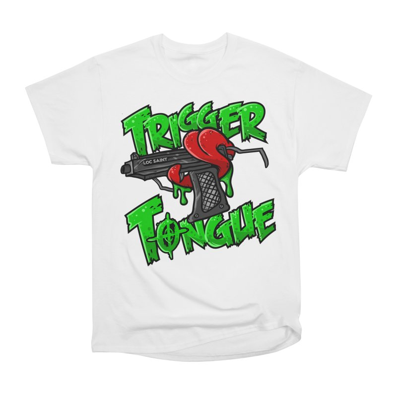 Trigger Tongue (Green) Men's Heavyweight T-Shirt by Official Loc Saint Music Merch