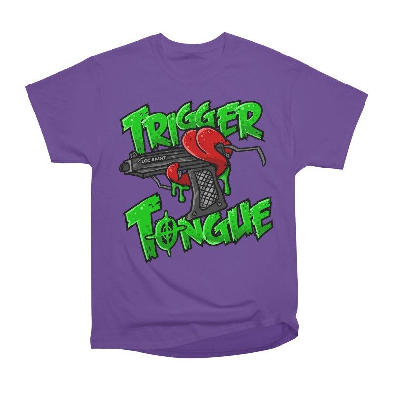 Trigger Tongue (Green) Women's Heavyweight Unisex T-Shirt by Official Loc Saint Music Merch
