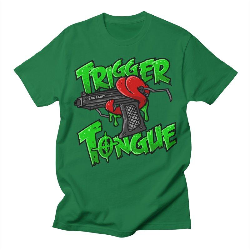 Trigger Tongue (Green) Men's Regular T-Shirt by Official Loc Saint Music Merch