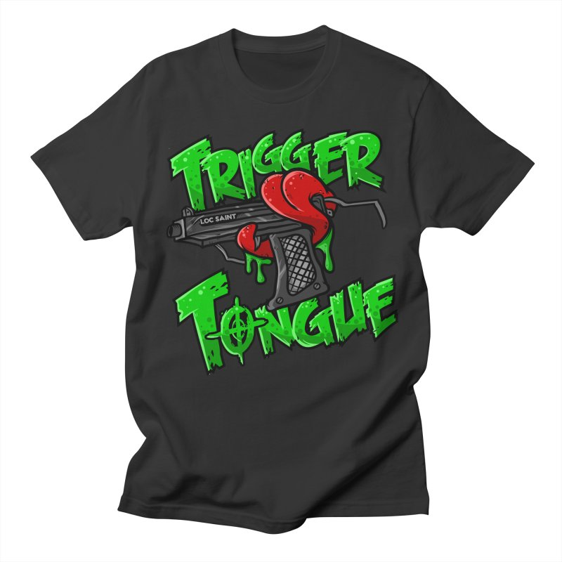 Trigger Tongue (Green) Men's Regular T-Shirt by Official Loc Saint Music Merch
