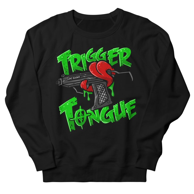 Trigger Tongue (Green) Women's French Terry Sweatshirt by Official Loc Saint Music Merch