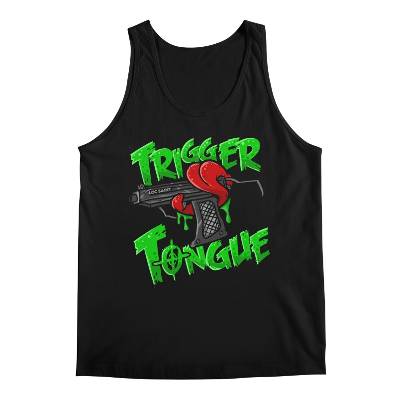 Trigger Tongue (Green) Men's Regular Tank by Official Loc Saint Music Merch